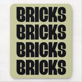 BRICKS BRICKS BRICKS MOUSE PAD