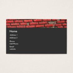 Bricks Business Card at Zazzle