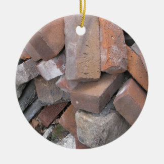 Bricks Ceramic Ornament