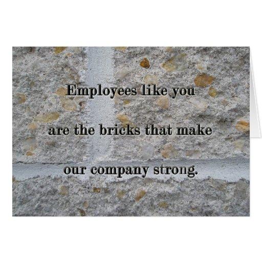 Bricks Employee Service Anniversary Thanks Card