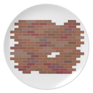 bricks melamine plate