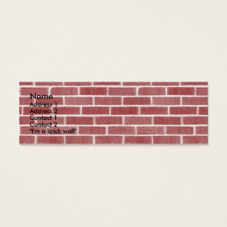 Bricks Mini Business Card