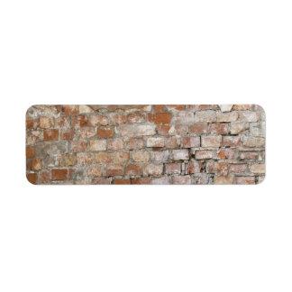 Bricks old wall return address labels