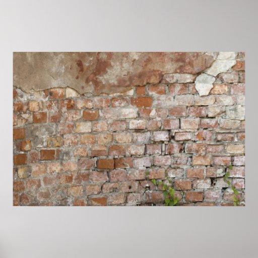 Bricks old wall poster