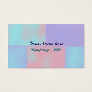 Bricks Pastel Template Business Card