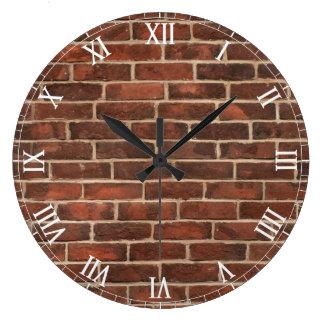 Bricks Pattern Large Clock