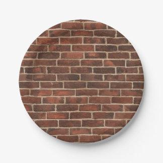 Bricks Pattern 7 Inch Paper Plate