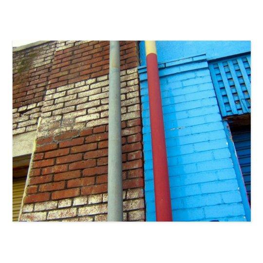 bricks  pipes postcard