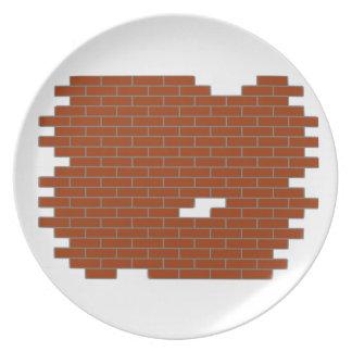 bricks plate