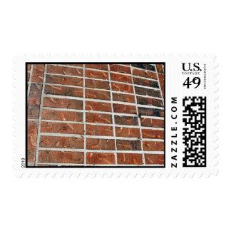 bricks postage stamp