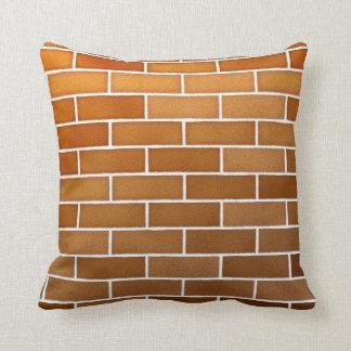 bricks rustic throw pillow