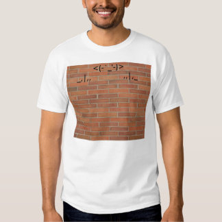 bricks texture,  <(-`_'-)>_,|,,              ,,|,_ t shirt
