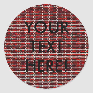 BRICKS too! Classic Round Sticker