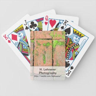 Bricks Walkway Bicycle Playing Cards