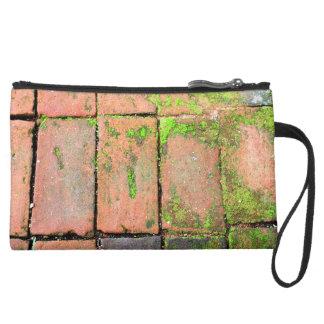 Bricks Walkway Suede Wristlet Wallet