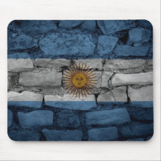 Bricks Wall Argentina flag Mouse Pad