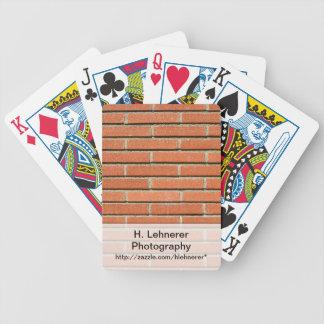 Bricks Wall Bicycle Playing Cards