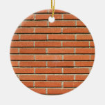 Bricks Wall Double-Sided Ceramic Round Christmas Ornament