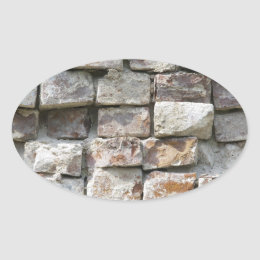 BRICKS WALL OVAL STICKER