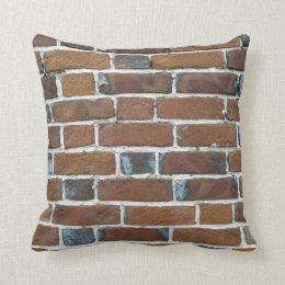 BRICKS WALL THROW PILLOW