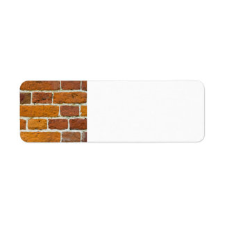 Brickwall Etiqueta De Remitente