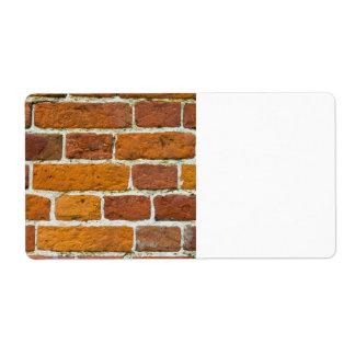 Brickwall Shipping Label
