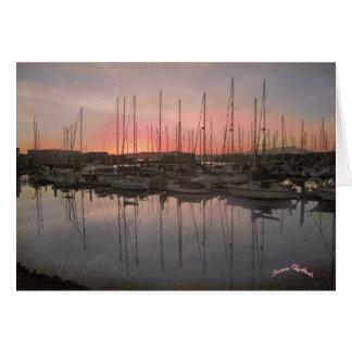 Brickyard /Cove Marina at Sunset Card