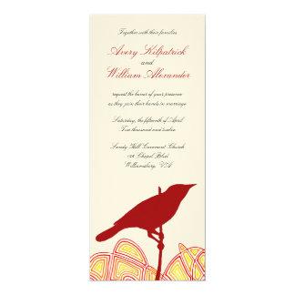 Brid Wedding 4x9.25 Paper Invitation Card