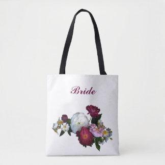 Bridal Antique Roses Wedding Tote Bag