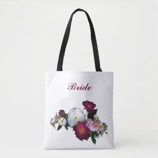 Bridal Antique Roses Wedding Tote Bag