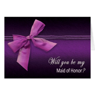 BRIDAL ATTENDANT REQUEST - MAID OF HONOR -PURPLE CARD