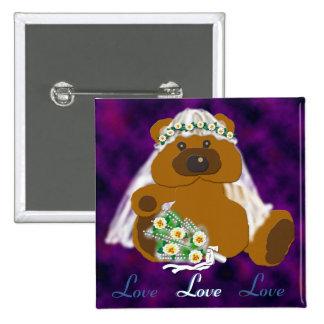 Bridal Bear Collection Button