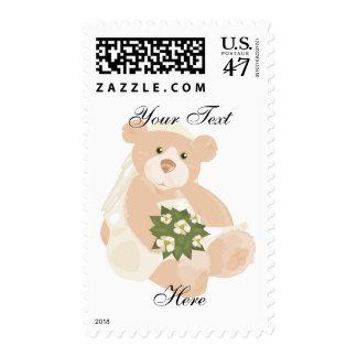 Bridal Bear Postage