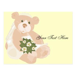 Bridal Bear Postcard