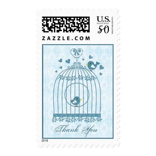 Bridal Bird Cage Thank You Postage