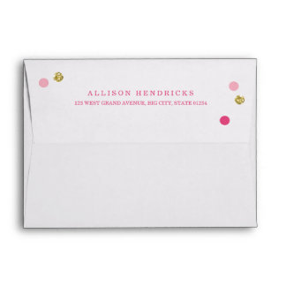 Bridal Bling Gold | Bridal Shower Invite Envelopes