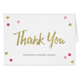 Bridal Shower Thank You Notes Gifts on Zazzle