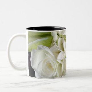 Bridal Bouquet 2 tone coffee mug