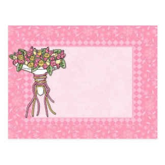 Bridal Bouquet Customizable Pink Card