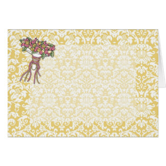 Bridal Bouquet Gold Damask Card