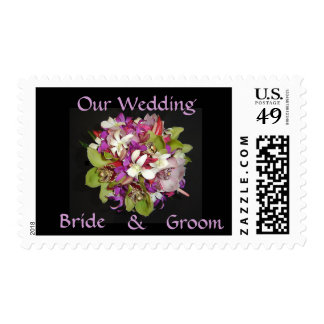 Bridal Bouquet - Orchids on Stamp