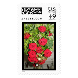 Bridal Bouquet Postage Stamp (Large)