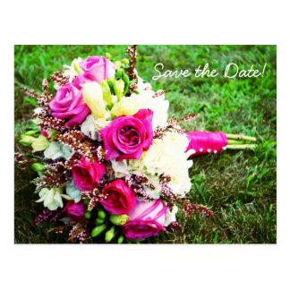 Bridal Bouquet Save The Date Postcards