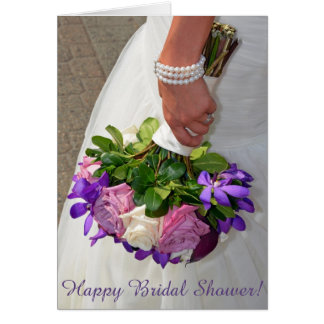 Bridal Bouquet Shower Card