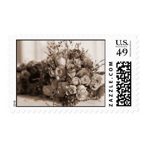 bridal bouquet stamp