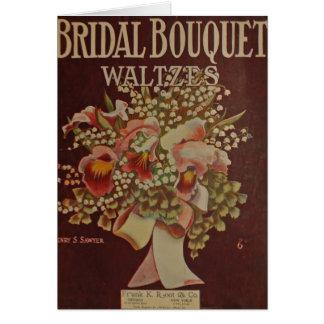 Bridal Bouquet Waltz Stationery Note Card