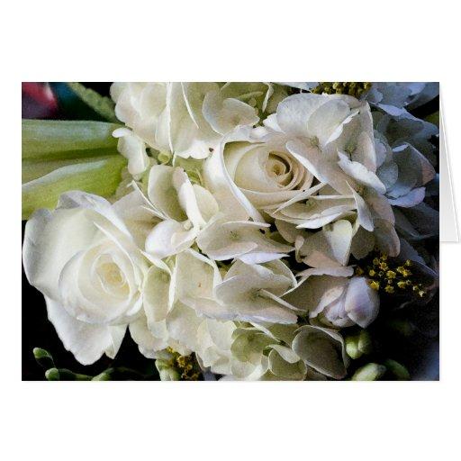 Bridal Bouquet Wedding Card
