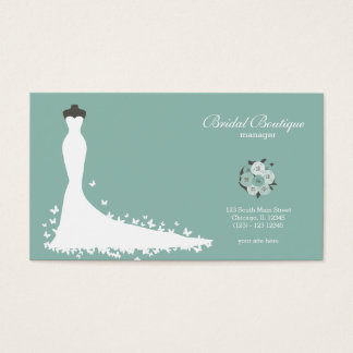 Wedding gown shop business cards templates zazzle bridal boutique choose your background color business card reheart Images