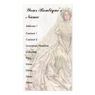 Bridal Boutique, Wedding Dress, Seamstress Double-Sided Standard Business Cards (Pack Of 100)