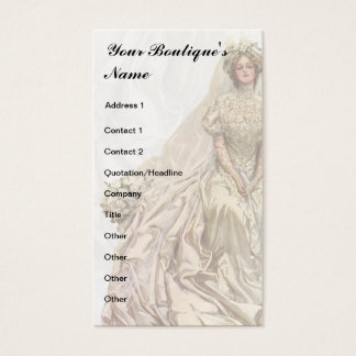 Bridal Boutique, Wedding Dress, Seamstress Business Card